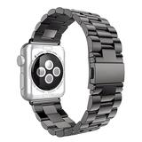 Nayu Smart Watches Black - Black Stainless Steel Band Replacement for Apple Watch