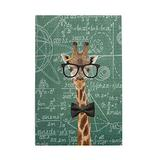 Tidyki Jigsaw Puzzle 500 Piece Teacher Giraffe Math Geek Funny Blackboard Jigsaw Puzzles for Adult and Children Entertainment Stress Relief Game Wooden Puzzles Toys 15x20