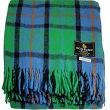"I LUV LTD Scottish Tartan Warm Wool Mix Throw Blanket Flower of Scotland Plaid Couch Blanket Bed Throw Blankets Wool Rug Outdoor Blankets and Throws 60"" x 72"""
