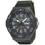 Casio Men's Quartz Nylon Strap, Green, 28.4 Casual Watch (Model: MRW-210HB-3BVCF)