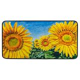 Kitchen Rugs Floor Mats Non Slip Washable Anti-Fatigue Rug Runner Sunflowers Field Yellow Area Rugs Cushioned Sink Laundry Farmhouse Bath Rugs Entryway Doormat 39x20 inch