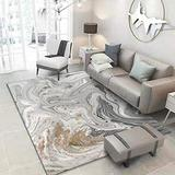 Modern Carpet Golden Gray Area Rugs Soft Small to Large Rugs Living Room Bedroom Runner Rug for Kitchen Indoor Home Decor Mats,Gray,5' x 8'