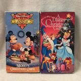 Disney Other | Disney Vhs Tapes Mickey Mouse A Disney Christmas | Color: Black | Size: 2 Tested Vhs Tapes