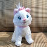 Disney Toys | Disney Marie Aristocat Plush White Cat Stuffed Toy | Color: Pink/White | Size: 7