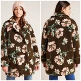 Anthropologie Jackets & Coats | Anthropologie Olivia Floral Teddy Coat | Color: Brown/Pink | Size: Xs