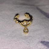 Brandy Melville Jewelry | Gold Dangly Ear Cuff | Color: Gold | Size: Os