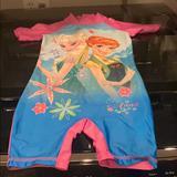Disney Swim | Disney Toddler Rash Guard | Color: Blue/Pink | Size: 2-3 Years