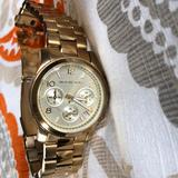 Michael Kors Accessories   Gold Plated Stainless Steel Chronograph Watch.   Color: Gold   Size: Os