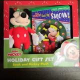Disney Toys | Mickey Mouse Clubhouse Book And Plush Mickey Mouse | Color: Red | Size: Osbb