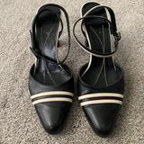 Kate Spade Shoes   Kate Spade Closed Toe Heels W Ankle Straps   Color: Black/White   Size: 6.5