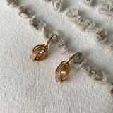Michael Kors Jewelry   Nwot Michael Kors Rose Gold Pave Dangling Earrings   Color: Gold/Pink   Size: Os