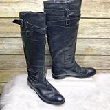 Coach Shoes | Coach Cayden Black Nappa Leather Knee High Boots | Color: Black | Size: 6.5