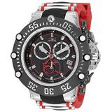 Invicta Men's Subaqua Swiss Quartz Watch with Silicone, Stainless Steel Strap, Red, 27.3 (Model: 33645)