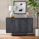 """M MAJOR-Q 99600-4827JET 47"""" Sideboard, Large Dining Server Cupboard Buffet Table with Two Storage Cabinets, Blue Finish, Dark Grey"""