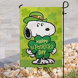 "Tinesa Snoopy Hug Shamrock Lucky Happy St. Patricks Day Flag, Happy Saint Patrick Day Flag, Snoopy St. Patricks Day Flag House Flag Garden Flag (House Flag 29.5""x39.5"")"