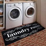 Lacomfy Laundry Rug Runner Rug Laundry Room Rug Floor Mat Durable Carpet Washhouse Mat Black White Rug Non-Slip Doormat Farmhouse Rug