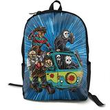 Unisex Abbey Road Killer-Freddy Horror Movie Backpack Student School Bag Travel Backpack Laptop Backpack Teen School Backpack Rucksack