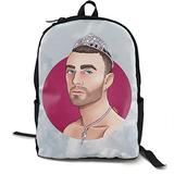 Unisex Sam Smith Backpack Student School Bag Travel Backpack Laptop Backpack Teen School Backpack Rucksack