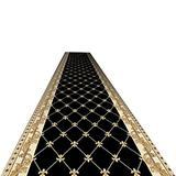 Runner Rug Hallway Rug Runners with Rubber Backing - Non Skid Area Rugs Entry Carpet Runners for Kitchen and Entryway, Black Traditional Formal Style (Size : W100cm x H300cm)