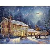 Wooden Puzzle 1000 Pcs Christmas National Christmas Vacation Jigsaw Puzzle Holiday Jigsaw Educational Game DIY Toys,Wood Puzzles