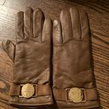 Michael Kors Accessories   New Michael Kors Leather Gloves Cashmere Lining   Color: Tan   Size: Os