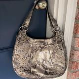 Coach Bags   Coach Gray Embossed Exotic Hobo Madison Maggie Bag   Color: Gray   Size: Os