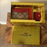 Coach Accessories | Coach Boxed Mini Skinny Id Case And Picture Frame | Color: Red | Size: Os