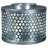 Apache Round-Hole Plated Steel Suction Strainer Universal Filter in Gray, Size 5.5 H x 7.0 W x 7.0 D in | Wayfair APACHE-70001500