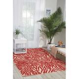 Dakota Fields Marazi Animal Print Red Area Rug Metal in Brown/Red, Size 48.0 H x 32.0 W x 0.25 D in   Wayfair 68D7B5ECC9204063A0B21523D661603D
