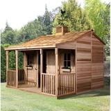 Cedarshed Ranchhouse Gable 16 ft. W x 14 ft. D Solid & Manufactured Wood Storage Shed in Brown, Size 124.0 H x 192.0 W x 168.0 D in   Wayfair
