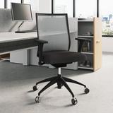 Kimball Helio Ergonomic Task Chair Upholstered in Black, Size 37.25 H x 26.5 W x 26.0 D in | Wayfair DA3373824