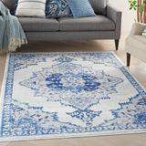 Bungalow Rose Colo Oriental White/Area RugPolypropylene in Blue, Size 72.0 H x 48.0 W x 0.39 D in | Wayfair 1B840E8B36C94316B1A3E9C2B9F95B45