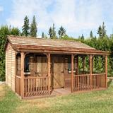 Cedarshed Gable 16 ft. W x 14 ft. D Solid & Manufactured Wood Storage Shed in Brown, Size 124.0 H x 192.0 W x 168.0 D in   Wayfair 697482