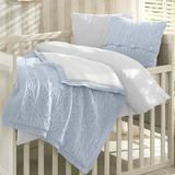 Greyleigh™ Baby & Kids Creedmoor 6 Piece Crib Bedding Set Wool/Cotton/Synthetic Fabric in Blue, Size 47.0 W in | Wayfair