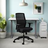 Allsteel Lyric Ergonomic Task Chair Upholstered in Black, Size 38.0 H x 26.0 W x 26.0 D in | Wayfair AMHHNOBL2HCU10