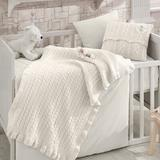 Greyleigh™ Baby & Kids Olivera 6 Piece Crib Bedding Set Cotton/Wool/Synthetic Fabric in White, Size 47.0 W in | Wayfair