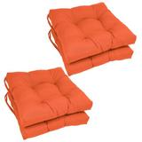 Andover Mills™ Indoor Dining Chair Cushion Polyester/Polyester blend in Orange, Size 3.5 H x 16.0 W x 16.0 D in | Wayfair