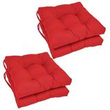 Andover Mills™ Indoor Dining Chair Cushion Polyester/Polyester blend in Red, Size 3.5 H x 16.0 W x 16.0 D in | Wayfair