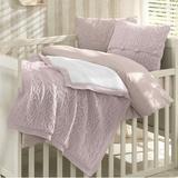 Greyleigh™ Baby & Kids Creedmoor 6 Piece Crib Bedding Set Wool/Cotton/Synthetic Fabric in Pink, Size 47.0 W in | Wayfair