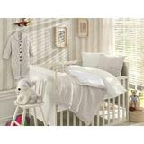 Greyleigh™ Baby & Kids Creedmoor 6 Piece Crib Bedding Set Cotton/Wool/Synthetic Fabric in White, Size 47.0 W in | Wayfair
