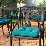 Andover Mills™ Indoor Dining Chair Cushion Polyester/Polyester blend in Blue, Size 3.5 H x 16.0 W x 16.0 D in | Wayfair