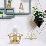 """Lalia Home 10""""H Gold Globe Glass Uplight Accent Table Lamp"""