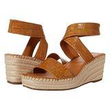Franco Sarto Women's Carezza Espadrille Wedge Sandal, Maple, 7