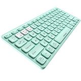 Multi-Device Wireless Keyboard, Memzuoix Rechargeable Computer Keyboard Connect Up to 3 Devices (5.1 BT), Cute Mini Bluetooth Keyboard Wireless for iPad, iOS, Mac, Desktop, Windows, Laptop, Teal