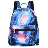 Mini Backpack Girls Water-resistant Small Backpack Purse Shoulder Bag for Womens Adult Kids School Travel (Classic Galaxy Blue)