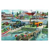 Pelican Lake 1000 Pieces Wooden Jigsaw Puzzles for Adults, 29.5x19.7 Inch Mini Puzzles, Landscape Difficult Puzzle Art for Men and Women