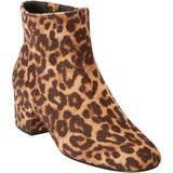 Women's The Sidney Bootie by Comfortview in Leopard (Size 8 M)