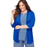 Plus Size Women's AnyWear Diamond-Stitch Cascade by Catherines in Blue Waves (Size 0X)