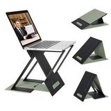 GETPRO Portable Laptop Desk, Adjustable Laptop Stand For Bed, Couch, Laptop Riser Tablet Stand Holder, Compatible w/ Macbook, Air, Pro in Green