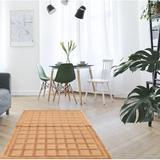 Latitude Run® Gunnels Geometric Hand-Knotted Wool Tan Area RugWool in White, Size 72.0 H x 48.0 W x 0.5 D in   Wayfair
